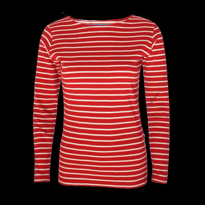 BretonStripe-LadyShirt-bordeaux-natural