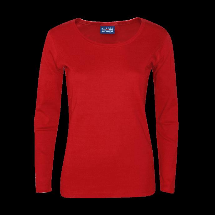 BretonStripe-LadyShirt-roundneck-61-bordeaux