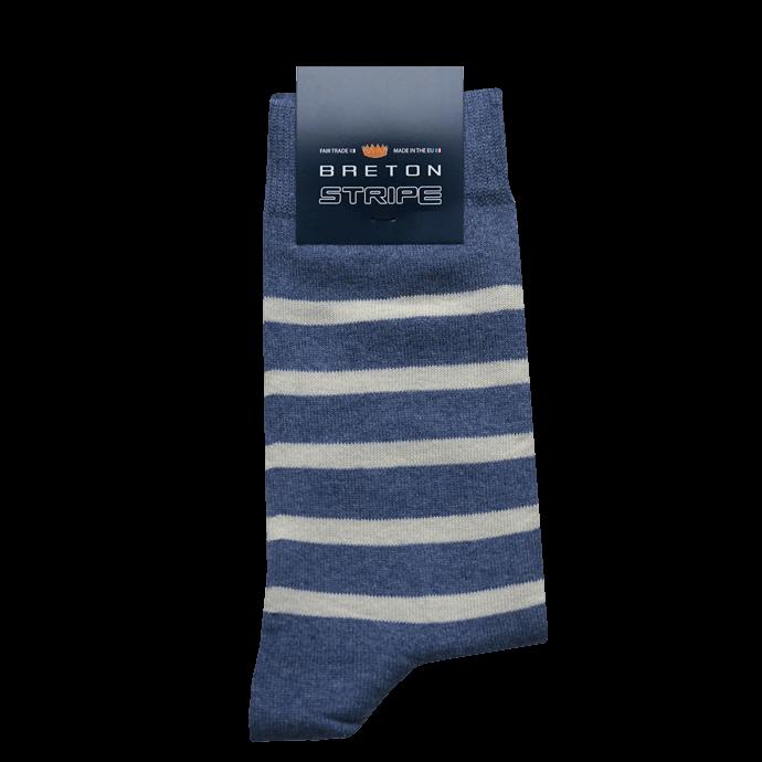 BretonStripe Socks 17 Jeans Natural