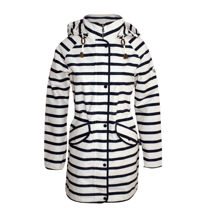 Bretonstripe-Lady Raincote 02 natural-navy