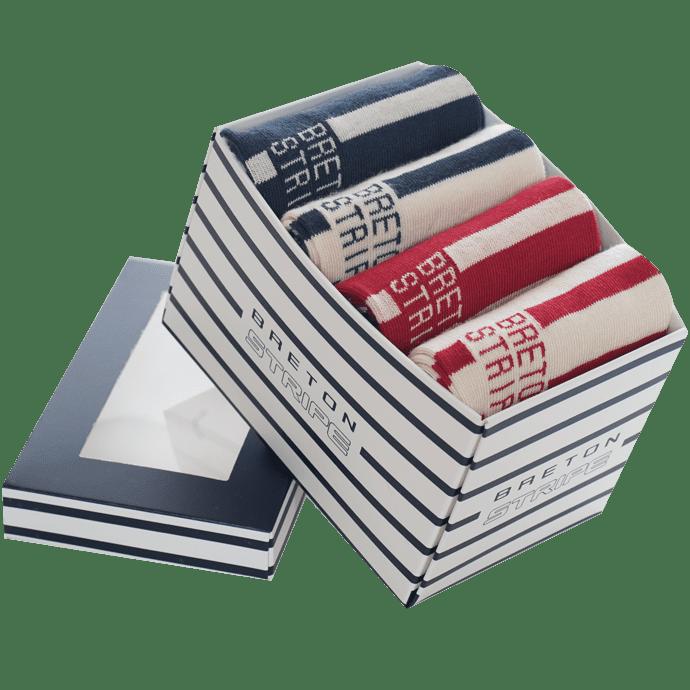 Bretonstripe-sokkenbox-1x01navy-natural 1x02natural-navy1x03bordeaux-natural1x04natural-bordeaux