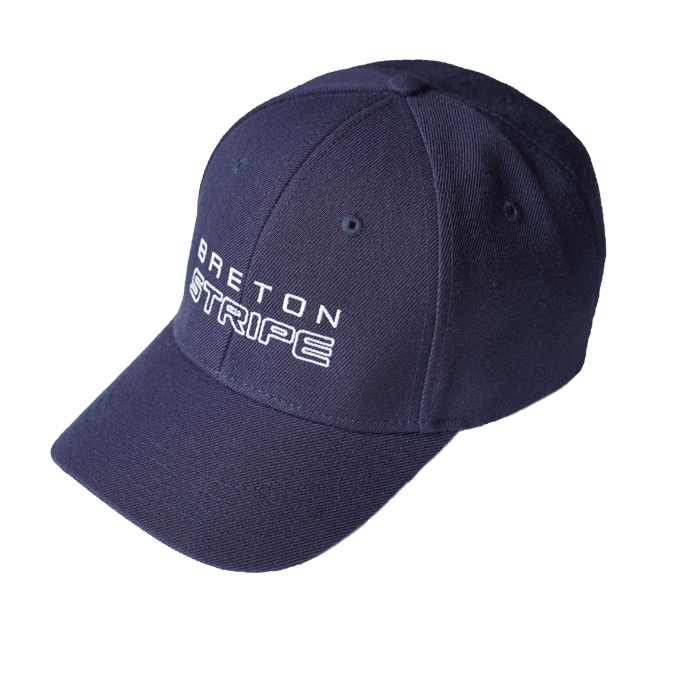 BretonStripe-cap-logo original 60-natural on navy